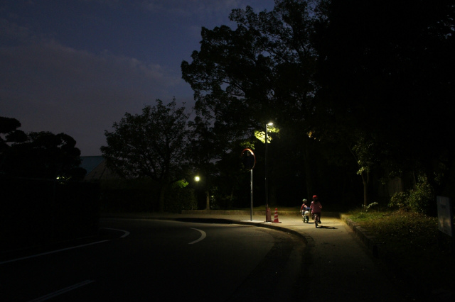 自転車の無灯火は5万円以下の罰金