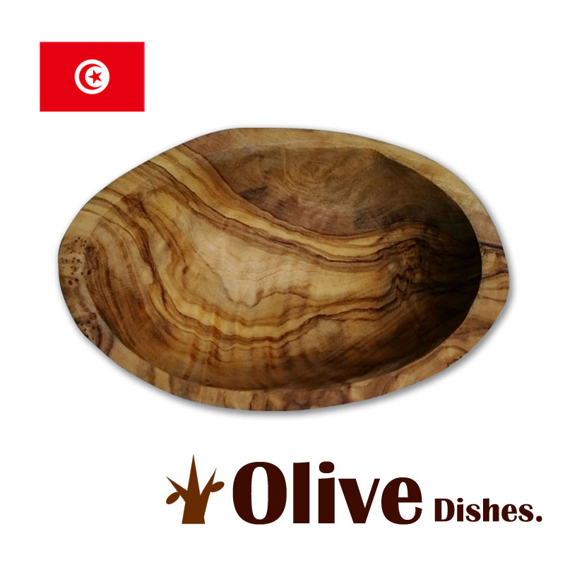 オリーブの木の食器オーバルトレイ